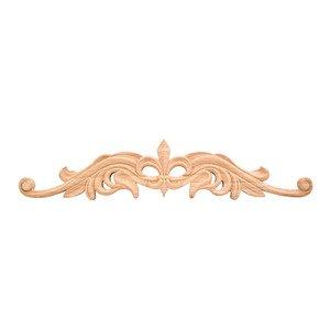 "Hardware Resources 4 3/16"" Fleur-De-Lis Traditional Onlay in Alder Wood"