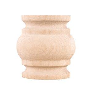 "Hardware Resources 3 1/2"" Spool Traditional Splice in Oak Wood"