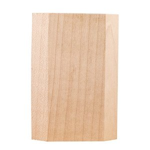 Hardware Resources Plain Traditional Transition Block in Hard Maple Wood
