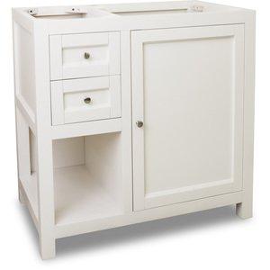 "Jeffrey Alexander Vanity 35-1/2"" x 21-3/4"" in Cream White"