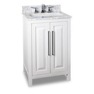 """Jeffrey Alexander 24"""" Bathroom Vanity in White"""