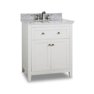 """Jeffrey Alexander 30"""" Bathroom Vanity in White"""
