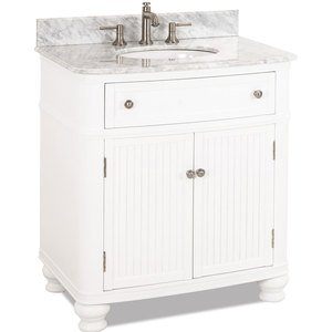 Large Bathroom Vanities 32 Bathroom Vanity With Preassembled Top And Bowl In White Elements Hardware Van106 T Mw