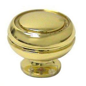 Italbrass Polished Brass Perimeter Knob in Polished Brass