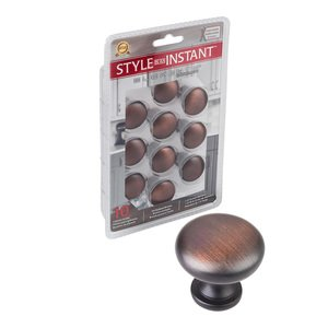"""Elements Hardware 10 Pack of 1 3/16"""" Diameter Knob in Brushed Oil Rubbed Bronze"""