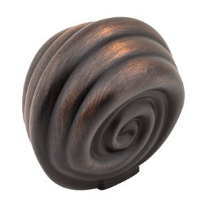 """Jeffrey Alexander 1 3/8"""" Palm Leaf Knob in Brushed Oil Rubbed Bronze"""