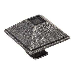 "Jeffrey Alexander 1 1/2"" Rustic Knob in Distressed Antique Silver"