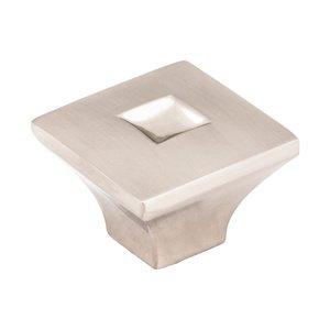 "Jeffrey Alexander 1 3/16"" Diameter Modern Knob in Satin Nickel"