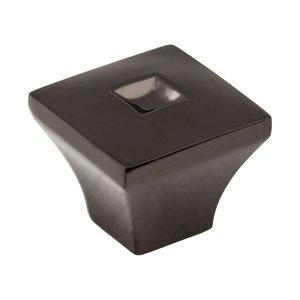 "Jeffrey Alexander 1"" Diameter Small Modern Knob in Satin Black Nickel"