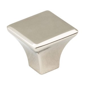 "Jeffrey Alexander by Hardware Resources - Marlo - 1 1/8"" Square Knob in Polished Nickel"