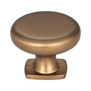 """Jeffrey Alexander 1 3/8"""" Diameter Knob in Satin Bronze"""