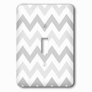 Jazzy Wallplates Single Toggle Wallplate With Light Shades Of Grey Chevron Zig Zag Pattern Pastel Gray Zigzags