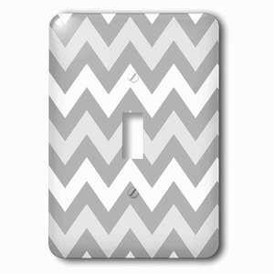 Jazzy Wallplates Single Toggle Wallplate With Shades Of Gray Chevron Zig Zag Pattern Light Pastel Grey Zigzags