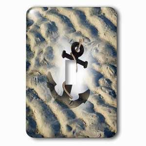 Jazzy Wallplates Single Toggle Wallplate With Image Of Roped Anchor Super Imposed On Beach Sand