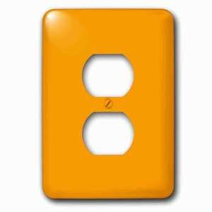 Jazzy Wallplates Single Duplex Outlet With Sweet Orangesolid Colorsdesigns