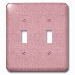Jazzy Wallplates Double Toggle Wallplate With Textured Look Salmon Pink Solid Color