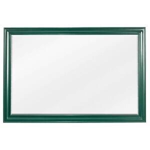 "Jeffrey Alexander 42"" W x 1-1/4"" D x 28"" H Forest Green Douglas Mirror"