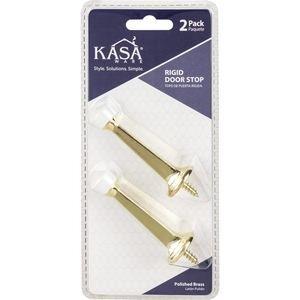 Kasaware (2pc Pack) Rigid Door Stops in Polished Brass