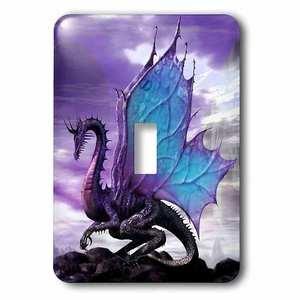 Jazzy Wallplates Single Toggle Wallplate With Fairytale Dragon