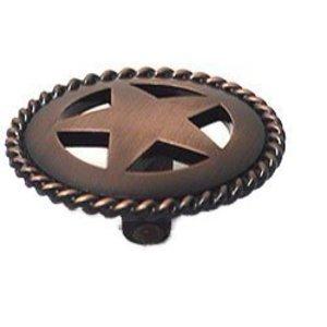 Wild Western Hardware Medium Star Knob with Braided Edge in Oil Rubbed Copper