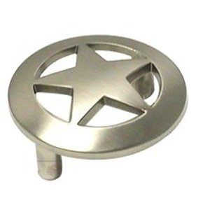 Wild Western Hardware Large Star Pull in Satin Nickel
