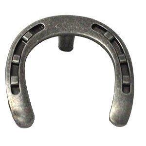 Wild Western Hardware Horseshoe Knob in Antique Pewter