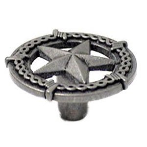 Wild Western Hardware Ornamental Star Knob in Antique Pewter