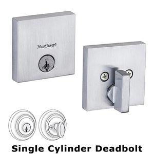 Kwikset Door Hardware Single Cylinder Deadbolt in Satin Chrome