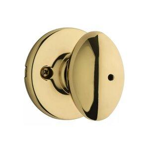 Kwikset Door Hardware Aliso Privacy Door Knob in Bright Brass