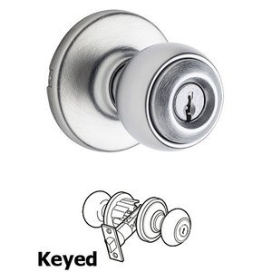 Kwikset Door Hardware Polo Keyed Entry Door Knob in Satin Chrome