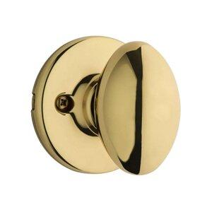 Kwikset Door Hardware Aliso Single Dummy Door Knob in Bright Brass