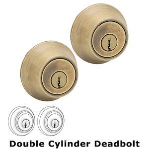 Kwikset Door Hardware Double Cylinder Deadbolt in Antique Brass