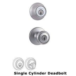 Kwikset Door Hardware Single Cylinder Exterior Handleset Trim in Satin Chrome