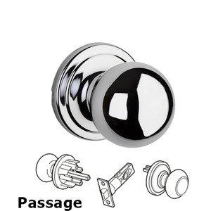 Kwikset Door Hardware Circa Passage Door Knob in Satin Chrome