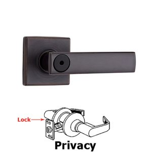 Kwikset Door Hardware Vedani Privacy Door Lever in Venetian Bronze