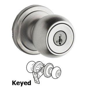 Kwikset Door Hardware Circa Keyed Entry Door Knob in Satin Chrome
