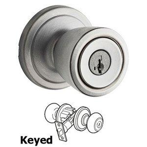 Kwikset Signature Series Abbey - Keyed Entry Door Knob in Satin Chrome  sc 1 st  MyKnobs.com & Abbey - Abbey Keyed Entry Door Knob in Satin Chrome - Kwikset Door ...