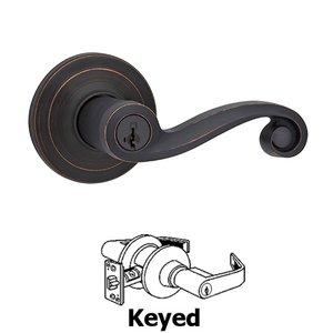 Kwikset Door Hardware Lido Keyed Door Lever in Venetian Bronze
