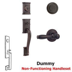 Kwikset Door Hardware Ashfield Dummy Handleset In Ashfield Interior Active Handleset Trim Reversable Door Lever & Half Dummy Function Dummy Trim for One Side of Door In Venetian Bronze