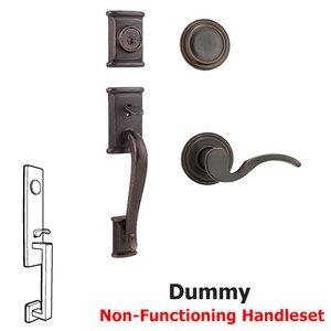 Kwikset Door Hardware Ashfield Dummy Handleset In Brooklane Interior Inactive Handleset Trim Right Hand Door Lever Inside Dummy Trim In Venetian Bronze