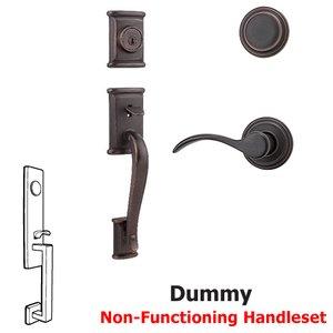 Kwikset Door Hardware Ashfield Dummy Handleset In Pembroke Interior Inactive Handleset Trim Left Hand Door Lever Inside Dummy Trim In Venetian Bronze
