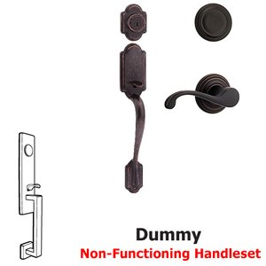 Kwikset Door Hardware Arlington Dummy Handleset With Commonwealth Interior Inactive Handleset Trim Left Hand Door Lever Inside Dummy Trim In Venetian Bronze