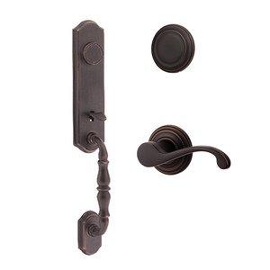 Kwikset Door Hardware Amherst Dummy Handleset with Commonwealth Interior Inactive Handleset Trim Right Hand Door Lever - Inside Dummy Trim In Venetian Bronze