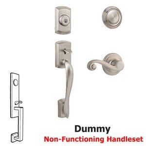 Kwikset Door Hardware Avalon Dummy Handleset In Lido Interior Inactive Handleset Trim Left Hand Door Lever Inside Dummy Trim In Satin Nickel