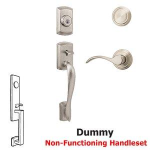 Kwikset Door Hardware Avalon Dummy Handleset In Pembroke Interior Inactive Handleset Trim Left Hand Door Lever Inside Dummy Trim In Satin Nickel