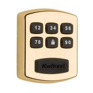 Kwikset Door Hardware 905 Keypad Electronic Deadbolt in Polished Brass