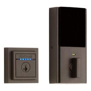 Kwikset Door Hardware Kevo Contemporary 2nd Generation Electronic Deadbolt in Venetian Bronze
