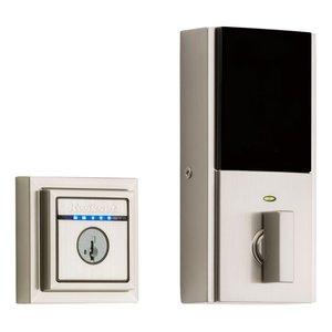 Kwikset Door Hardware Kevo Contemporary 2nd Generation Electronic Deadbolt in Satin Nickel