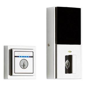 Kwikset Door Hardware Kevo Contemporary 2nd Generation Electronic Deadbolt in Lifetime Brass