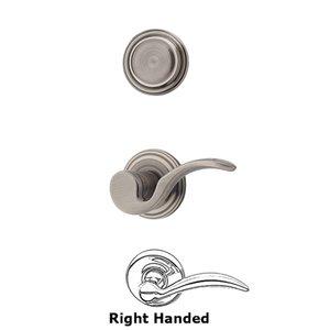Kwikset Door Hardware Brooklane Interior Inactive Handleset Trim Right Hand Door Lever Inside Dummy Trim In Antique Nickel